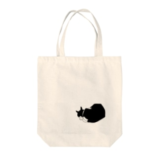 黒白猫おやすみ Tote bags