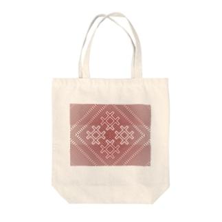 こぎん刺し/【紅松こぎん】のこぎんk01redg Tote bags