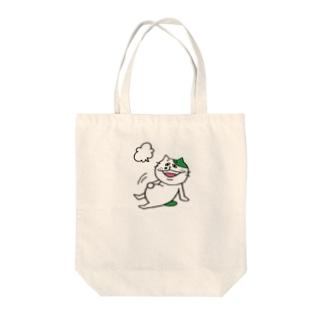 TOSANEKO 満腹 Tote bags
