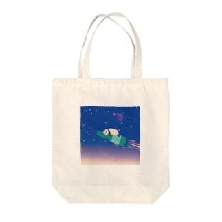 ラムネパンダ Tote bags