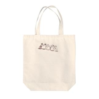 ごはんまち5にゃん Tote bags