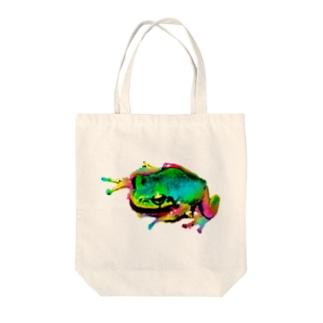 Akrofrog Tote bags