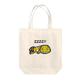 レオパイラストグッズ Tote bags