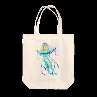 めんだこ屋さんの一夜海月 Tote bags