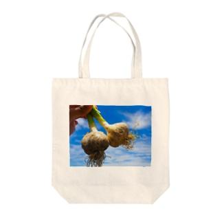 ガーリック Tote bags