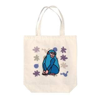 ブルーどないやモンキー Tote bags