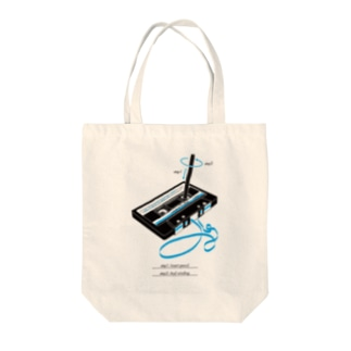 cassette tape & pencil Tote bags