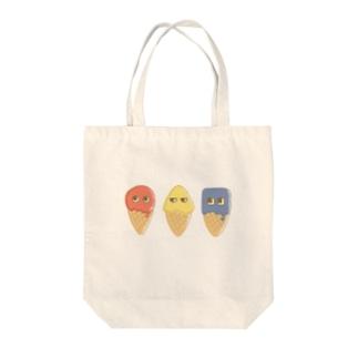 まるさんかくしかく Tote bags