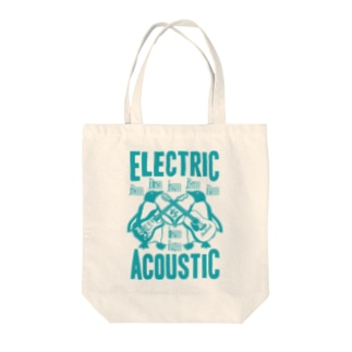 ELECTRIC×ACOUSTIC PENGUIN Tote bags