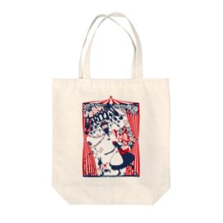 思議の国のアリス-シルエット-物語の開幕-カラー Tote bags