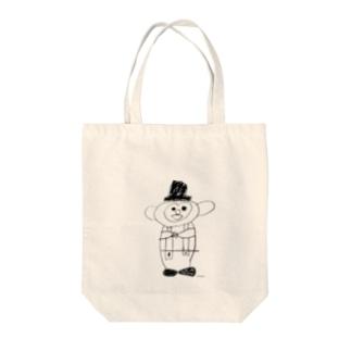 おさるのミント君 Tote bags