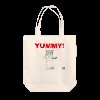★いろえんぴつ★のねこさんとおさかなさん Tote bags