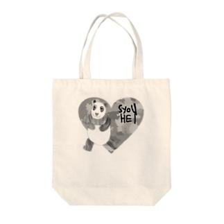 迷彩♡パンダ Tote bags