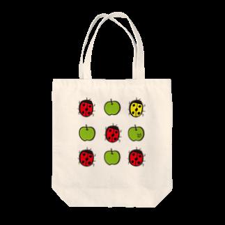 ★いろえんぴつ★のてんとうむし♡あおりんご Tote bags