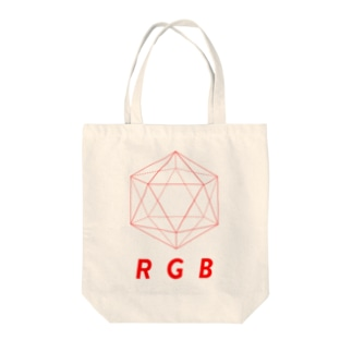 わたけみのregular icosahedron RGB red Tote bags
