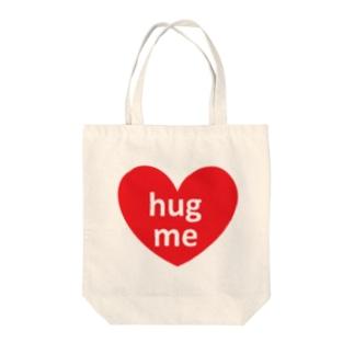 hug me❤ Tote bags