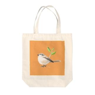 新緑のエナガさん Tote bags