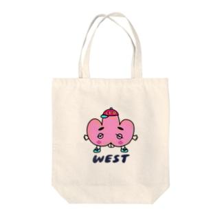 ウエストくん Tote bags