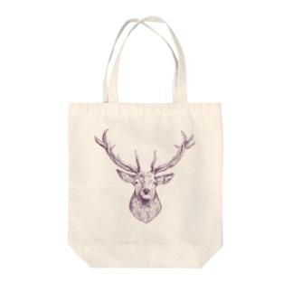 鹿さん Tote bags