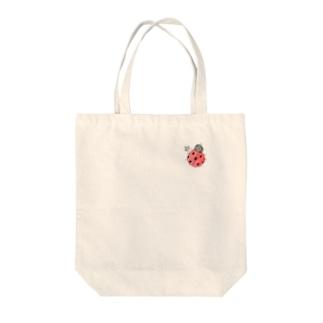 ★いろえんぴつ★のワンポイント☆てんとうむし Tote bags