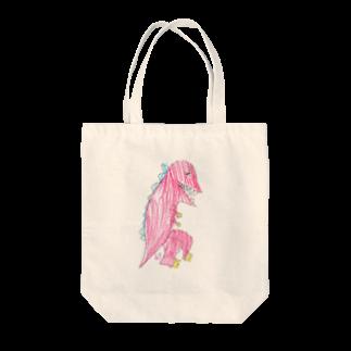 ★いろえんぴつ★のきょうりゅうさん Tote bags