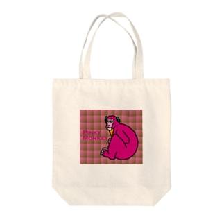 ピンキーモンキーのオヨヨちゃん Tote bags