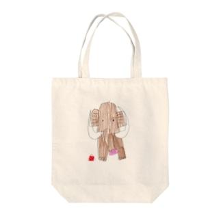 マンモスさん Tote bags