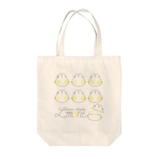 リモーネちゃんシルエットトート(ナチュラル・ホワイト) Tote bags