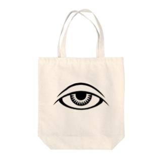 呪術と瞳 Tote bags