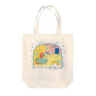 流れるキラキラ Tote bags