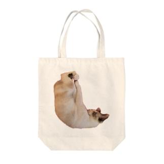 しろみちゃんの寝相が変 Tote bags