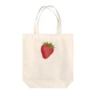 オハデザインのいちご Tote bags
