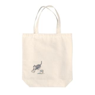 猫のおしごと その3 Tote bags