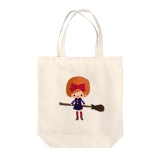 まじょことほうき Tote bags