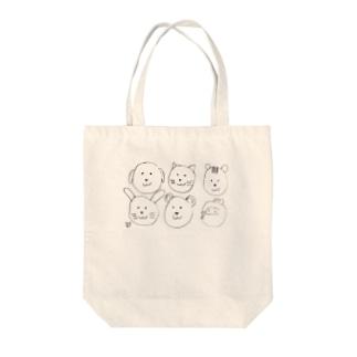 ★いろえんぴつ★のどうぶつたくさん Tote bags