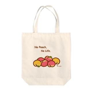 桃ゴロゴロ Tote bags