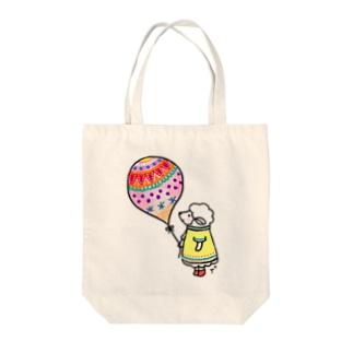 ひつじちゃんと風船 Tote bags