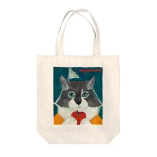 のっぴきならない/保護猫タケル Tote bags