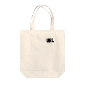 URL黒-02 Tote bags