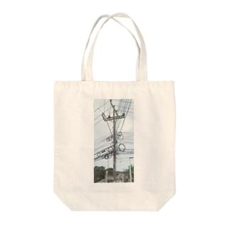 鬼の配線 Tote bags