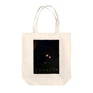夜景A Tote bags