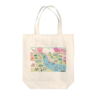 鳥さんたちのお花見 Tote bags
