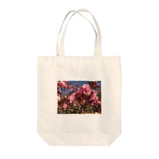 花 ピンク 写真 Tote bags