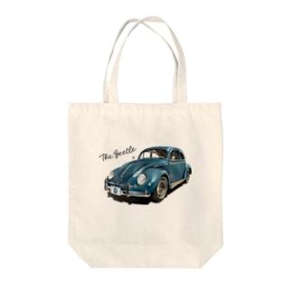 ブルーのビートル Tote bags