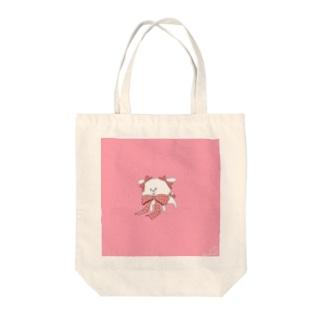 わんこプレゼンツ Tote bags