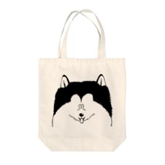 たとえばアラスカンマラミュート Tote bags