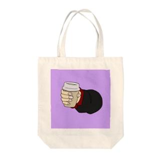 コーヒーカップを持つ手 Tote bags