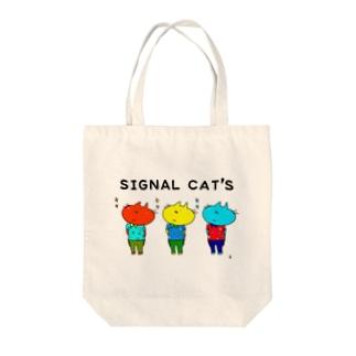 SIGNAL CAT'S Tote bags