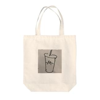 ハンバーガーショップのシェイクロゴ Tote bags