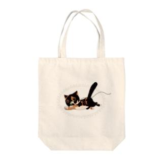 迫真猫 Tote bags
